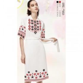 Заготовка женского платья на белом габардине Biser-Art Bis6046 белый габардин - 400.00грн.