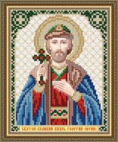 Схема вышивки бисером на авторской канве Святой Великий Князь Георгий (Юрий) Art Solo VIA5199 - 25.00грн.