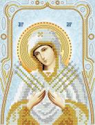 Схема для вышивки бисером на атласе Семистрельная Пресвятая Богородица