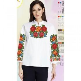 Заготовка женской сорочки на белом габардине Biser-Art SZ77 - 320.00грн.