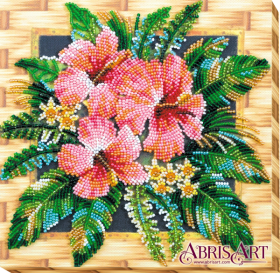 Набор-миди для вышивки бисером на натуральном художественном холсте Цветы Танзании Абрис Арт АМВ-026 - 219.00грн.