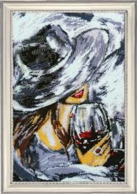 Набор для вышивки бисером Леди с бокалом Баттерфляй (Butterfly) 839Б - 621.00грн.