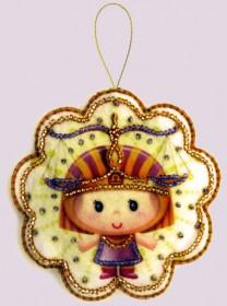 Набор для изготовления игрушки из фетра для вышивки бисером Весы, , 48.00грн., F127, Баттерфляй (Butterfly), Гороскоп