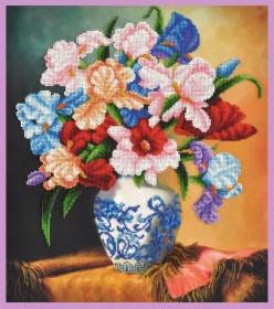 Набор для вышивки бисером Букет ирисов Картины бисером Р-396 - 615.00грн.