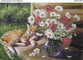 Схема для вышивки бисером на габардине Дачная жизнь кота Василия Acorns А4-К-244 - 45.00грн.