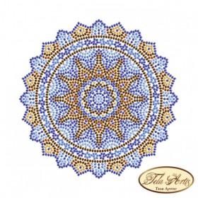 Схема вышивки бисером на габардине Мандала Кобальт Tela Artis (Тэла Артис) МА-007(1) ТА - 50.00грн.