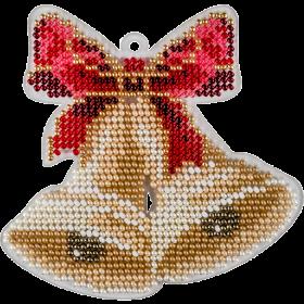 Набор для вышивки бисером на пластиковой основе Колокольчики