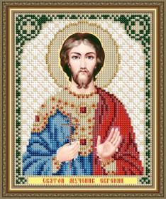 Схема вышивки бисером на авторской канве Святой Мученик Евгений Art Solo VIA5301 - 25.00грн.