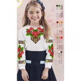 Заготовка детской сорочки на белом льне Biser-Art Д114 - 245.00грн.