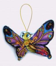 Набор для изготовления игрушки из фетра для вышивки бисером Бабочка Баттерфляй (Butterfly) F009