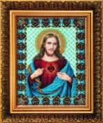 Набор для вышивки бисером Святое Сердце Иисуса