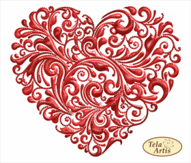 Схема вышивки бисером на атласе Вихри любви