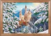 Схема для вышивки бисером на атласе Зимний замок