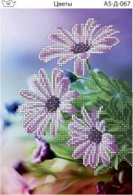 Схема для вышивки бисером на габардине Цветы Acorns А5-Д-067 - 30.00грн.