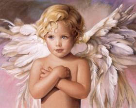 Набор для выкладки алмазной мозаикой Голубоглазый ангел Алмазная мозаика DM-153 - 640.00грн.