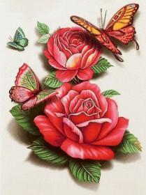 Набор для выкладки алмазной мозаикой Бабочки на розых