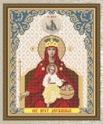 Схема для вышивки бисером на габардине Пресвятая Богородица Державная