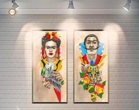 Схема для вышивки бисером на атласе Мэтры сюрреализма Диптих, , 180.00грн., СЛТ-2217, Миледи, Картины из нескольких частей