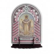 Набор для вышивки иконы с рамкой-киотом Покрова Пресвятой Богородицы