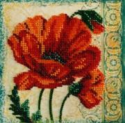 Набор для вышивки бисером на холсте Красный бархат