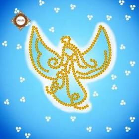 Схема-миниатюра для вышивки бисером Зимний ангел