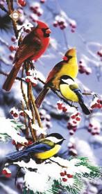 Схема для вышивки бисером на атласе Млые птички