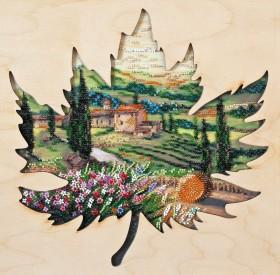 Набор для вышивки бисером Солнце Тоскании с деревянной рамкой Абрис Арт АВ-767 - 490.00грн.