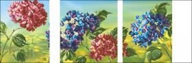 Схема вышивки бисером на атласе Триптих Цветы 3, , 175.00грн., ТС2-08, Эдельвейс, Картины из нескольких частей