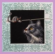 Набор для вышивки бисером Кошки-мышки Картины бисером Р-337