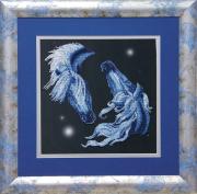 Схема вышивки бисером на ткани Созвездие любви