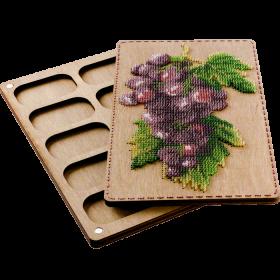 Органайзер с крышкой под вышивку бисером Виноград Волшебная страна FLZB-072 - 390.00грн.