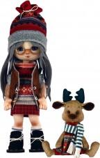 Набор для шитья куклы и мягкой игрушки Девочка с лосиком Zoosapiens К1074Z