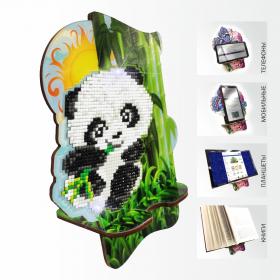 Подставка под телефон с алмазной мозаикой Панда в бамбуковой роще