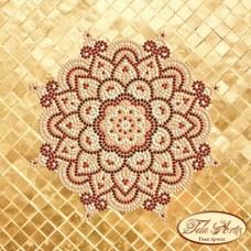 Схема вышивки бисером на атласе Мандала Золото и Марсала  Tela Artis (Тэла Артис) МА-005 ТА