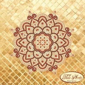 Схема вышивки бисером на атласе Мандала Золото и Марсала  Tela Artis (Тэла Артис) МА-005 ТА - 50.00грн.