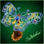 Набор для вышивки бисером Ажурная бабочка 3D 086