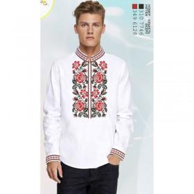 Заготовка для вышивки мужской сорочки на белом льне Biser-Art 1596 - 435.00грн.
