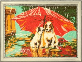 Набор для вышивки бисером Зонтик на двоих, , 514.00грн., 615Б, Баттерфляй (Butterfly), Собака символ 2018 года своими руками
