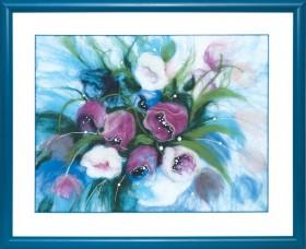 Набор для валяния картины Утренние тюльпаны, , 226.00грн.,  В-199, Чарiвна мить (Чаривна мить), Цветы