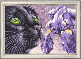 Набор для вышивки бисером Фиолетово - чёрный