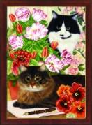 Схемы для вышивания бисером на авторской канве Коты