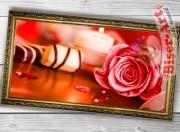 Схема вышивки бисером (нитками) на габардине Рожева троянда