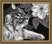 Набор для выкладки алмазной мозаикой Кот с магнолией