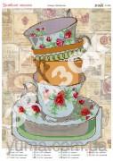 Схема вышивки бисером на атласе Любимые чашки