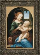 Набор для вышивки крестом Мадонна Бенуа (По мотива Леонардо да Винчи)