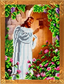 Набор для вышивки бисером Иисус, стучащий в дверь, , 165.00грн., КБИН-4058, Каролинка, Иконы 20*30 (А4)