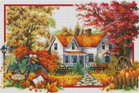 Набор для выкладки алмазной мозаикой Времена года: Осень Алмазная мозаика DM-293 - 1 400.00грн.