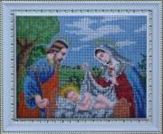 Рисунок на габардине для вышивки бисером Рождение Иисуса Христа