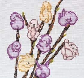 Набор для вышивки крестом Мартовские зайчики Абрис Арт АН-046 - 246.00грн.
