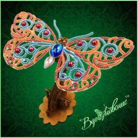 Набор для вышивки бисером Ажурная бабочка 3D 088